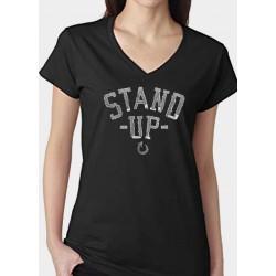 Tee Shirt sTAND UP NOIR modèle femme