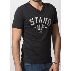 TEE-SHIRT STAND UP NOIR modèle mixte