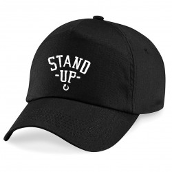 Casquette Noire Stand Up