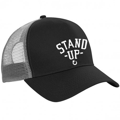 Casquette Noire Truckers Stand Up