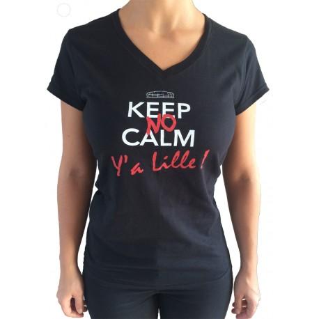 "Tee shirt ""Y'a Lille "" femme col V"