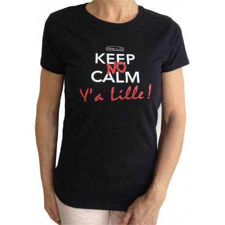 """Tee shirt """"Y'a Lille """" femme col rond"""